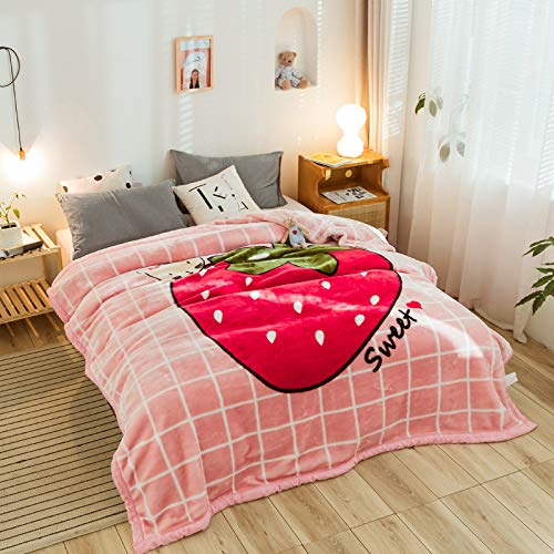 KNNSYZ Doppelschichtige Dicke warme Rascheldecke Upgrade Cloud Nerz Cartoon Cloud Decke Multifunktionsdecke Multifunktionsdecken