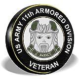 Not applicable Veterano dell'Esercito degli Stati Uniti 11thh Divisione Blindata Copertura dei Pneumatici rimorchio Auto Adatta RV Ect,16 Pollici