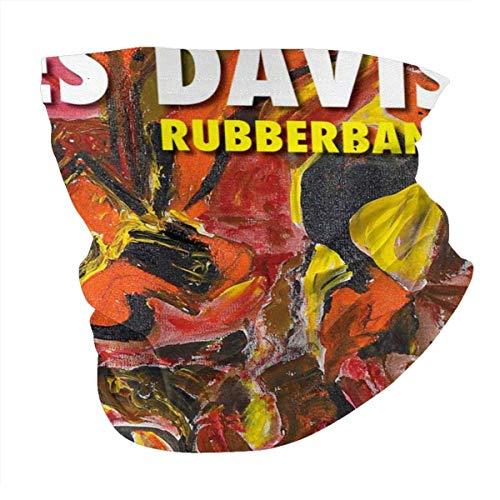pumpkin pie Männer und Frauen Bandana Neck Warmer Gamaschen Haarband Miles Davis Poster Sturmhaube Nasenrohrschal Kappe Staubschal Multifunktionale Kopfbedeckung Schwarz