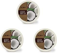 DELON Intense Moisturizing Coconut Body Butter 6.9 Oz (3-pack)