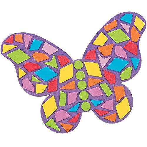 Elfen und Zwerge 6 x Schmetterling Bastelset Moosgummi Kindergarten Kindergeburtstag Basteln DIY Geburtstag Mitgebsel