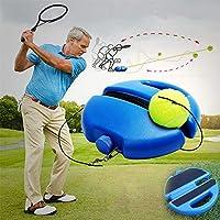 テニストレーニングマシン、独自の自己学習テニストレーニングマシン、ロープトレーナー付きキックボード、大人の子供と初心者に適しています