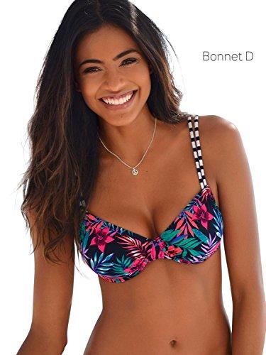 Venice Beach Bikini Oberteil Mix-Kini, bunt, D36