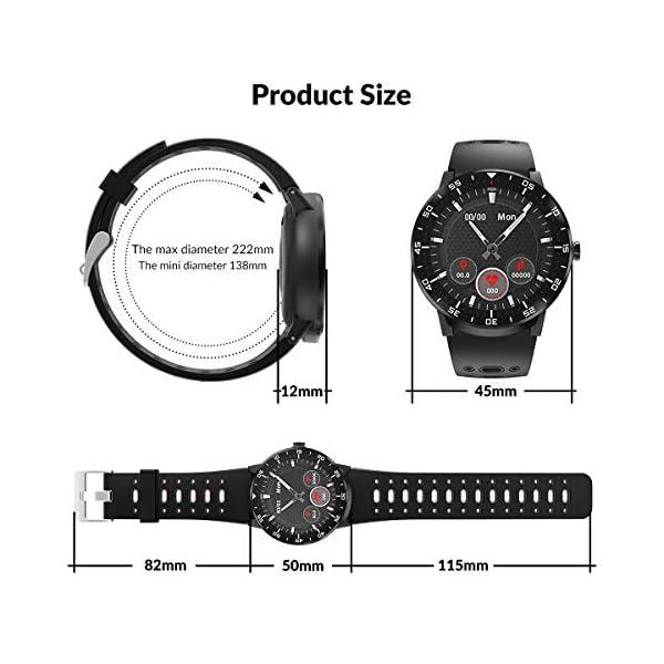 HopoFit Smartwatch Reloj Inteligente, HF06 Pantalla Táctil Completa Circular Impermeable Podómetro Pulsómetros, Monitor… 7
