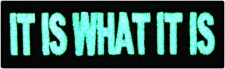 EmbTao Glow In Dark It Is What It Is Funny Biker Embroidered Iron On Sew On Patch