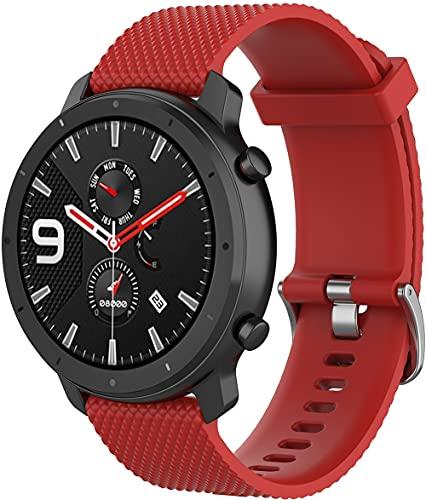 Classicase Repuesto de Correa de Reloj de Silicona Compatible con Huawei Watch GT 2 (42mm) / Watch Elegant/Watch GT 2 Elegant, Caucho Fácil de Abrochar para Relojes y Smartwatch (20mm, Pattern 9)