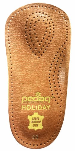 pedag Holiday Leather 3/4 Inserts for Whole Foot Support, Handmade in Germany, Men and Women's Dress Shoes, Flats, Ballet Flats, Real Leather, Tan, 2 Pair, US M 13 / EU 46