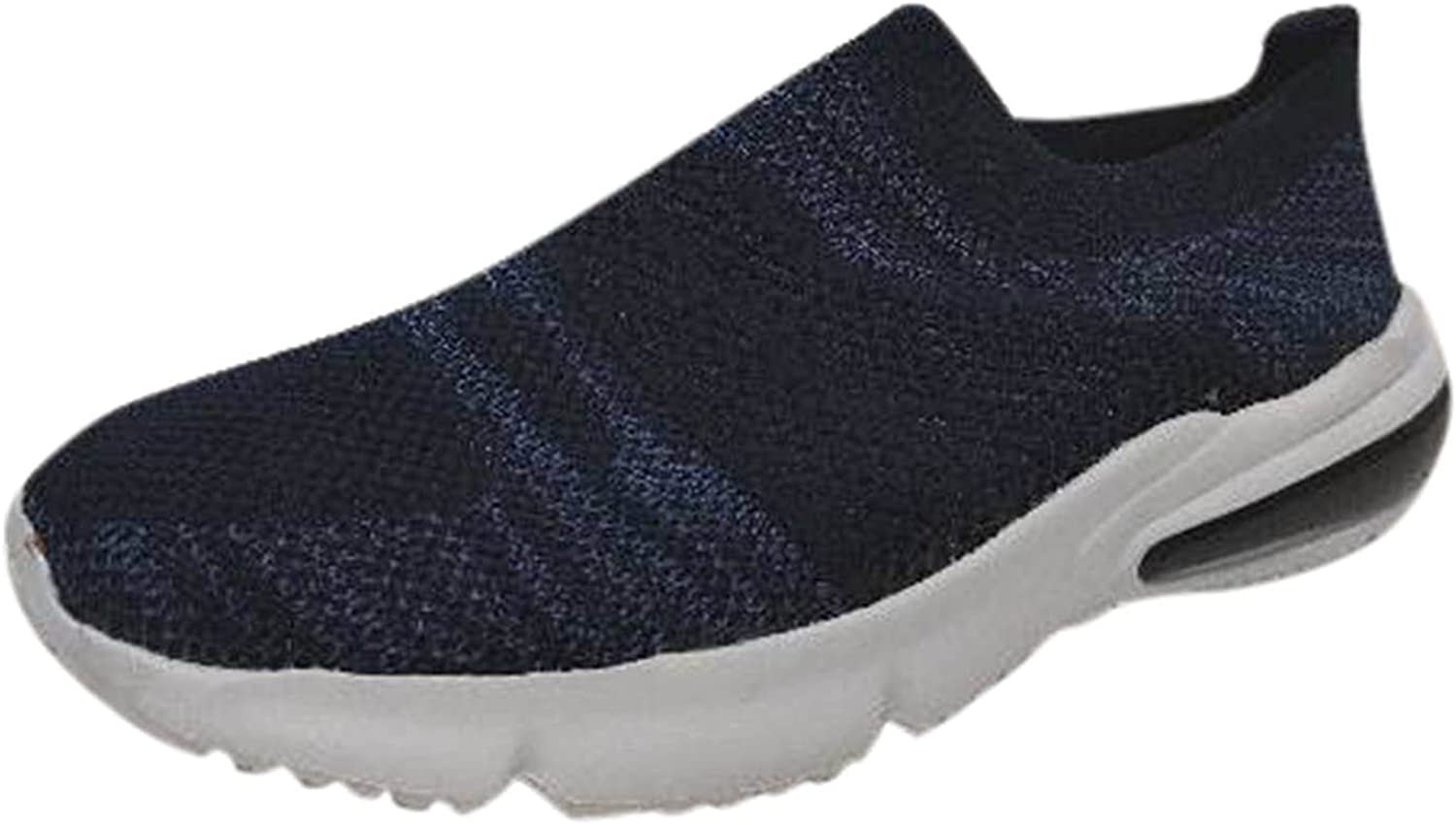 FAMOORE Women's Mules & Clogs Sneakers for Women Slip On Sneakers Comfort Breathable Mesh Running Shoes Lightweight Casual Walking Shoes
