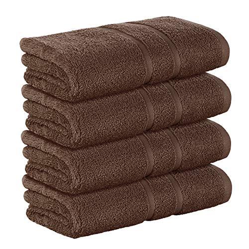 StickandShine 4er Set Premium Frottee Handtuch 50x100 cm in Dunkelbraun in 500g/m² aus 100{7cc5a6320aaa0c7247b9c1ff35b17e5a9036901aee76942cc7bfaa0b19427d94} Baumwolle Öko-TEX Standard 100 Materialien