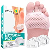 Metatarsal Pads Ball of Foot Cushions Metatarsal Pads for Women | Metatarsal Pads for Men | Ball of Foot Pads Metatarsalgia Pain Relief | Mortons Neuroma Callus Forefoot Pad Insoles for Women