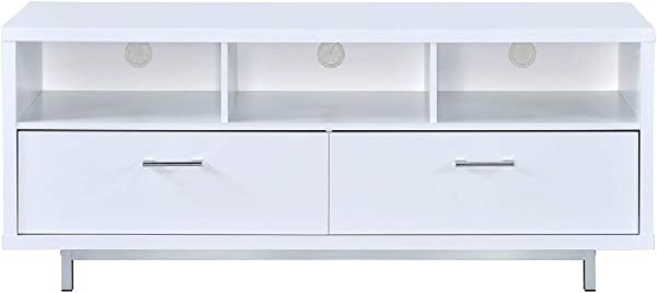 Coaster Home Furnishings 2 Drawer TV Console With 3 Storage Compartments White