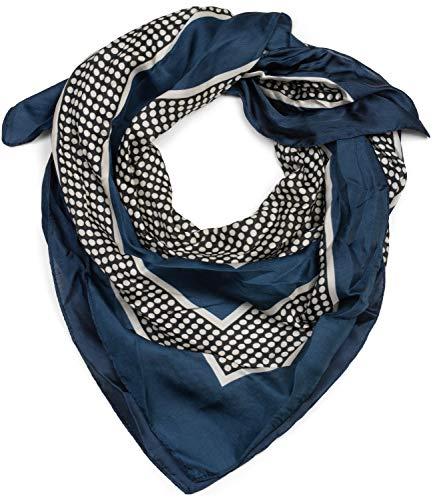 styleBREAKER Dames driehoekige sjaal met stippen en gekleurde vlakken, multifunctionele sjaal, halsdoek, bandana 01016193