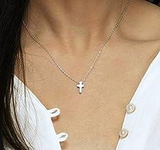 Tiny Cross Necklace/Minimal Necklace, Religious Necklace, Silver or Gold Cross Necklace from Hotmixcold