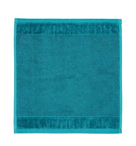 Möve Bamboo, Coton, Bleu océan, 30 x 30 cm
