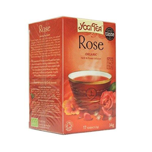 Yogi Tea Rose 17 Bags (Pack of 6, total of 102 teabags)