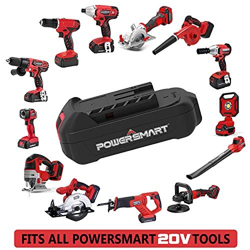 Cordless Circular Saw 5-1/2 Inch - 20V 1.5Ah Battery, 1h Fast Charger, PowerSmart 20V Power Tools