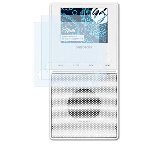 Bruni Schutzfolie kompatibel mit Medion E85032 MD87248 Folie, glasklare Displayschutzfolie (2X)