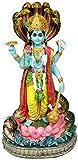 "Krishna Culture Vishnu and Sesa Standing 9.5"" Statue Narayan Hindu Idol Figurine Golu Doll"
