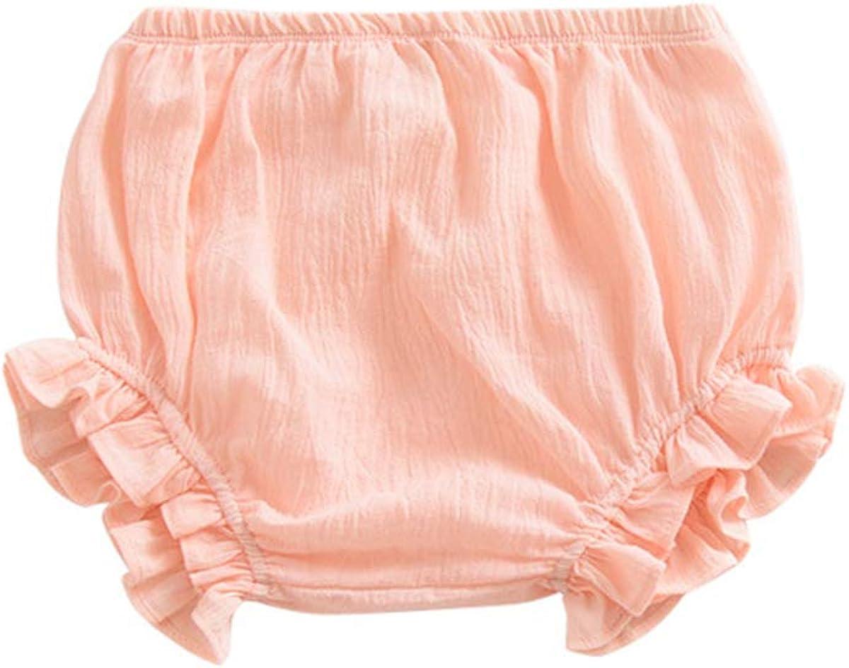 Baby Girls Boys Cotton Linen Blend Cute Bloomer Shorts Loose Har