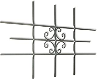 vidaXL Window or Gate Grille,Security Grilles,Solid galvanised Steel, Deco Grille,Safety Window Guard,27.2