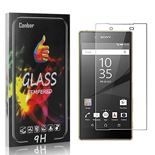 Conber [4 Stück] Displayschutzfolie kompatibel mit Sony Xperia Z5, Panzerglas Schutzfolie für Sony Xperia Z5 [Hüllenfreundlich][9H Härte]