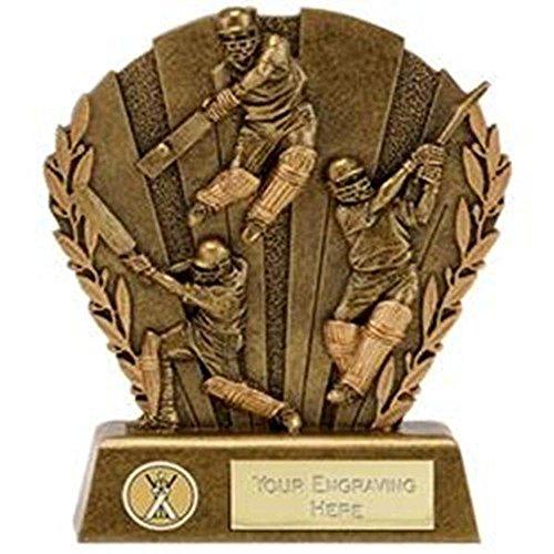 14,6cm Richtung Cricket Trophy Award Plus Gratis Gravur bis zu 30Buchstaben a1654C