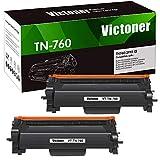 Victoner Compatible Toner Cartridge Replacement for Brother TN760 TN-760 TN 760 TN-730 TN730 for HL-L2395DW HL-L2350DW HL-L2390DW HL-L2370DW MFC-L2750DW MFC-L2710DW DCP-L2550DW Toner (Black,2 Pack)