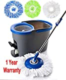 Simpli-Magic 79229 Spin Cleaning System Including 3 Mop Heads, Dark Grey/Blue
