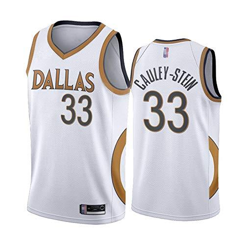 Jerseys De Baloncesto Para Hombres, Dallas Mavericks # 33 Willie Cauley-Stein NBA Baloncesto Chalecos Deportivos Al Aire Libre Camisetas Sin Mangas Camisetas Casuales Tops,Blanco,S(165~170cm)