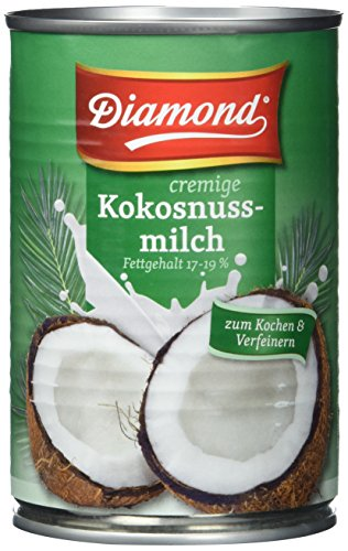 Diamond Kokosnussmilch, Fettgehalt: ca. 17%, 12er Pack (12 x 400 ml Packung)