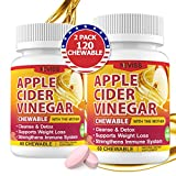 (2 Pack)Organic Apple Cider Vinegar Pills with The Mother for Weight Loss, Immune Support, Detox & Cleanse for Kids & Adults, 1000mg Vegan ACV Tablets Alternative to Vinegar, ACV Capsules-120 Tablets