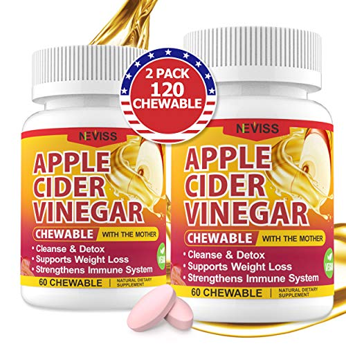Organic Apple Cider Vinegar Pills with The Mother for Weight Loss, Detox & Cleanse, Vegan Apple Cider Vinegar Tablet 1000mg Substitute to ACV Gummies, Capsules w Ashwagandha, Ginger & Beet Root, 120ct