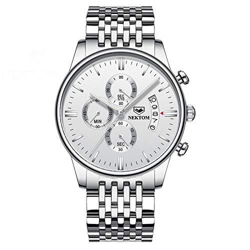 Reloj automático para Hombre Relojes de Cuarzo Informales de Cuero -B