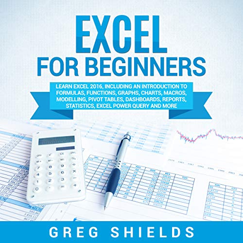 Excel for Beginners audiobook cover art