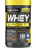 Cellucor Whey Sport Protein Powder Chocolate | Post Workout Recovery Drink with Whey Protein Isolate, Creatine & Glutamine | 18 Servings