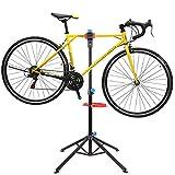 MVPower Soporte Caballete de Reparación para Bicicleta Bici Carga Hasta 50 KG Soporte Plegable Bici Altura Ajustable (Apoyo de 4 Pies, 115-170 cm)