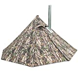 Ultralight Tipi Hot Tent with Fire Retardant Flue Pipes Window Teepee,3.4lb(Camouflage)