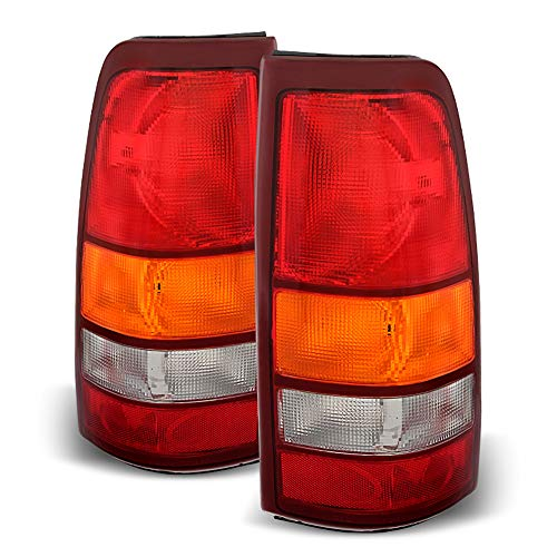 For Red Smoke 1987-1996 Ford F150 F250 Bronco Tail Lights Brake Lamps Set Left+Right ACANII