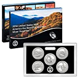 2014 S United States Mint America the Beautiful Quarters Silver Proof Set OGP