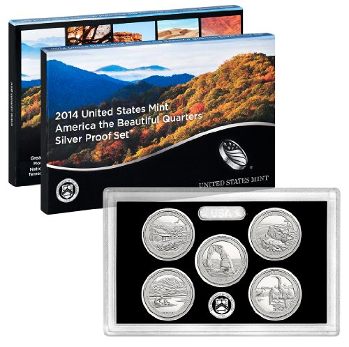 2014 S United States Mint America the Beautiful Quarters Silver Proof Set™ OGP