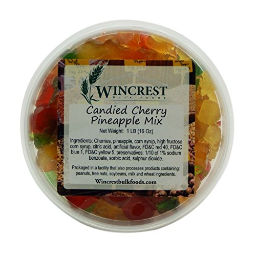 Candied Fruit - 1 Lb Tub (Cherry Pineapple)