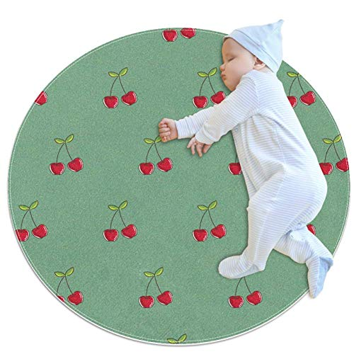 Cherry Baby Play Mats - Baby Crawling Mats for Boys and Girls - Children's Room Decor for Play Carpet Floor Carpets