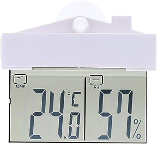 Tykeed -9~50°C Mini Indoor Outdoor Digital Temperature Humidity Meter Hygrometer with Sucker