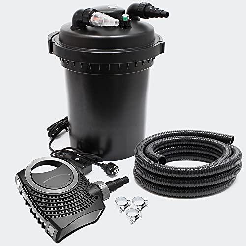 SunSun CPF-500 Set 30000l 11W UVC NEO10000 Bomba Manguera Set de Filtro para Estanque