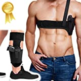 Shoulder Holster+Ankle Holster, Universal Holsters Combo for Concealed Carry, Tactical Gun Holster for Men and Women-Fits Glock 17 19 26 42, Ruger LCP, M&P Shield, Sig Sauer, Ruger, Kahr