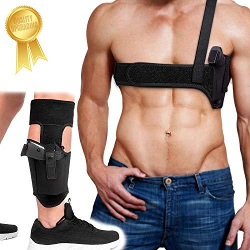Shoulder Holster+Ankle Holster, Universal Holsters Combo for...