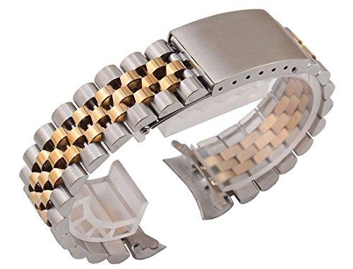20mm solido acciaio inossidabile Jubilee stile scambio Orologio bracciali...