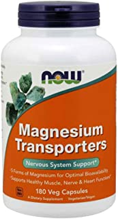 Now Foods Magnesium Transporters, Veg Capsules, 180ct