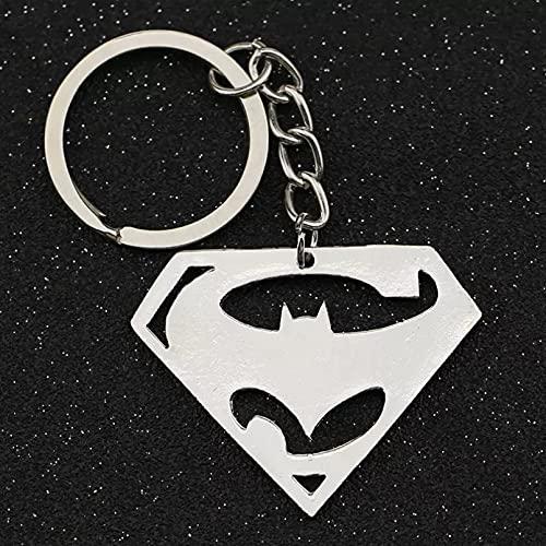 TOBENOI Batman V Superman Dawn of Justice Llavero Superhéroe Logo Llavero Llavero Anillo DC Comics Película