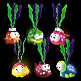 JOYIN Light-up Diving Pool Toys Set, 6 Packs of Diving Toy Animals, Pool Party Games, Underwater Sinking Swimming Pool Toy for Kids